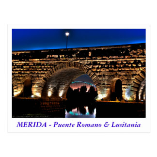 Postal Puente Romano & Lusitania