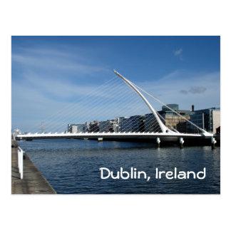 Postal Puente sobre el río de Dublín