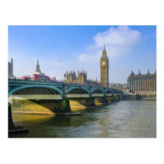 Postal Puente y Big Ben, Londres Reino Unido de