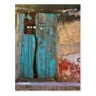 Postal Puerta azul en Mérida