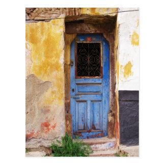 Postal Puerta azul griega - Creta