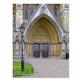 Postal Puerta del norte de la abadía de Westminster,