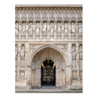 Postal Puerta del oeste de la abadía de Westminster,
