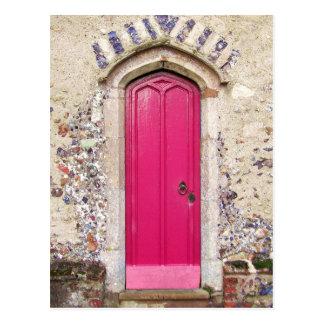 Postal Puerta rosada vieja