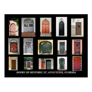 Postal Puertas de St Augustine histórico, la Florida