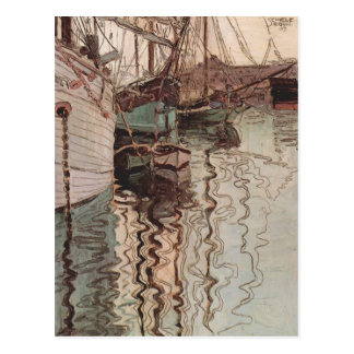 Postal Puerto de Egon Schiele- de Trieste