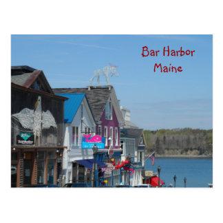 Postal Puerto de la barra, Maine