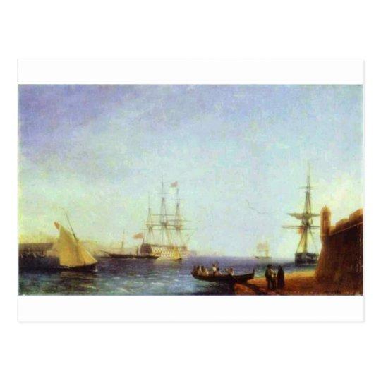 Postal Puerto de Malta Valetto de Ivan Aivazovsky