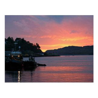 Postal Puerto de Oban, Escocia