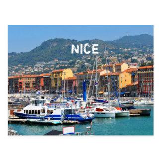 Postal Puerto deportivo en Niza, Francia