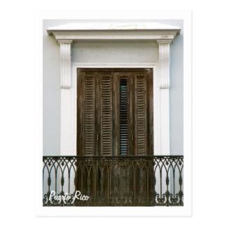 Postal Puerto Rico, ventanas Viejo San Juan