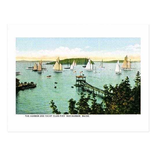 Postal Puerto y club náutico, puerto de la barra, Maine