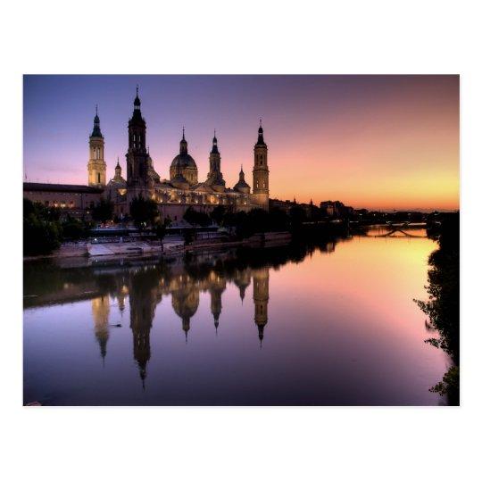 Postal Puesta de sol sobre el Ebro