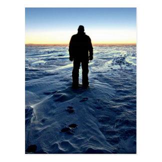 Postal Puesta del sol antártica