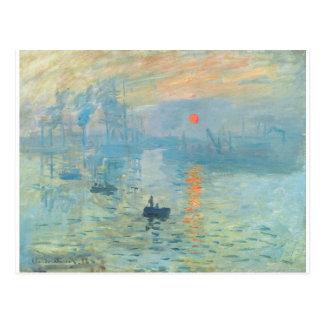 Postal Puesta del sol - Claude Monet