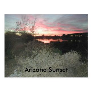 Postal Puesta del sol de Arizona