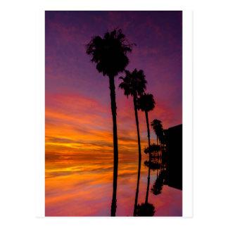 Postal puesta del sol de Carlsbad, California