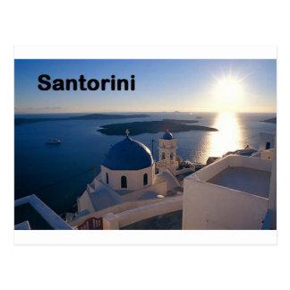 Postal Puesta del sol de Grecia Santorini (St.K)