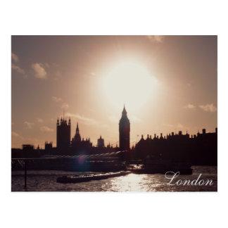 Postal Puesta del sol de Londres