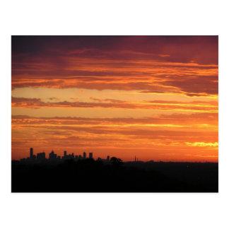 Postal Puesta del sol de Melbourne