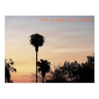 Postal Puesta del sol de Phoenix