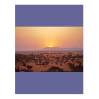 Postal Puesta del sol de Serengeti