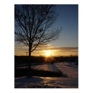 Postal Puesta del sol de Vermont