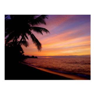Postal - puesta del sol de Waialua