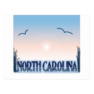 Postal Puesta del sol del aerógrafo de Carolina del Norte