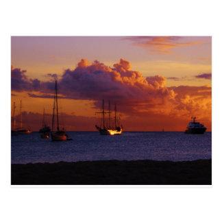 Postal Puesta del sol del St. Maarten