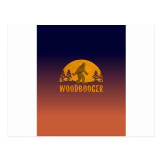 Postal Puesta del sol del vintage de Woodbooger