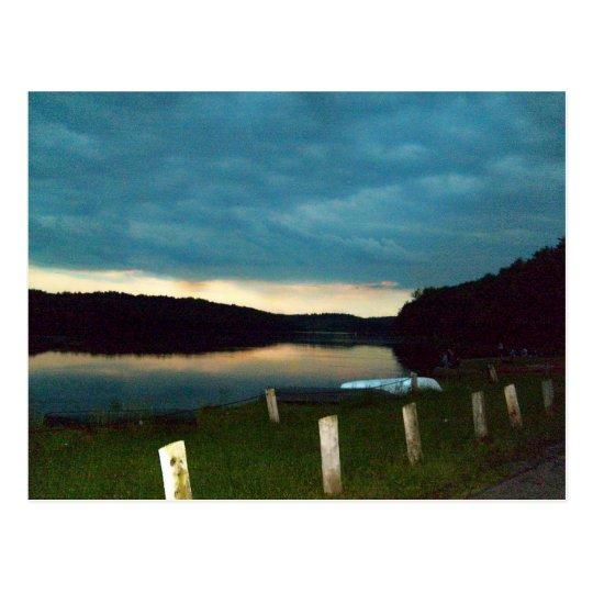 Postal Puesta del sol en el lago Kyle