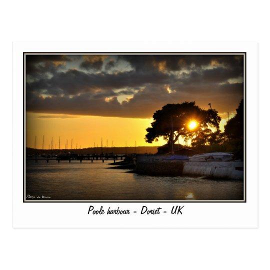 Postal Puesta del sol en el puerto de Poole - Dorset -