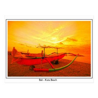 Postal Puesta del sol en Kuta