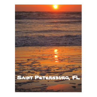 Postal Puesta del sol en la playa de Pete del santo