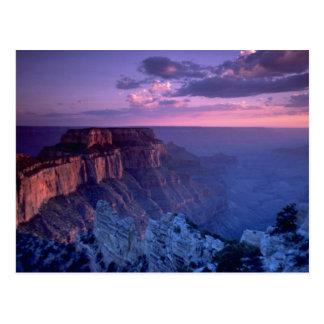 Postal Puesta del sol hermosa: Gran Cañón, Arizona