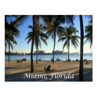Postal Puesta del sol la Florida, los E.E.U.U. de Miami