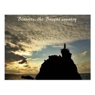 """Postal """"Puesta del sol loca"""" - Biarritz"""