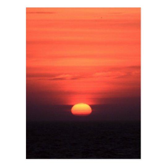 Postal Puesta del sol romántica
