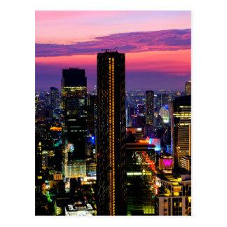 Postal Puesta del sol sobre Bangkok