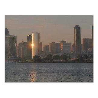 Postal Puesta del sol sobre San Diego