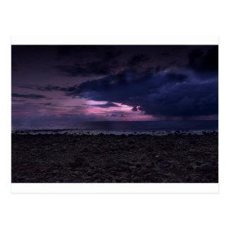 Postal Puesta del sol tempestuosa