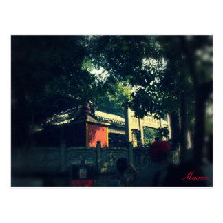 Postal Punto turístico de Macao