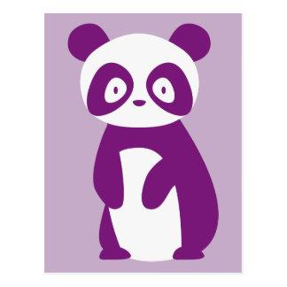 Postal púrpura de la panda
