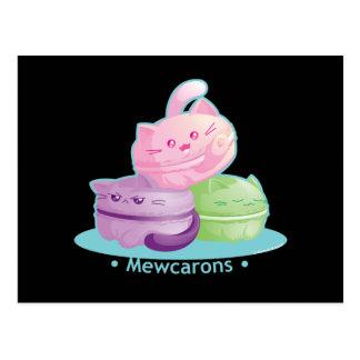 Postal Purrista Pawfee: Gato lindo Macarons del gatito