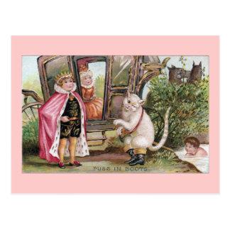 Postal Puss en del rey Carriage de las botas y