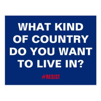 Postal ¿Qué clase de país usted quiere para vivir
