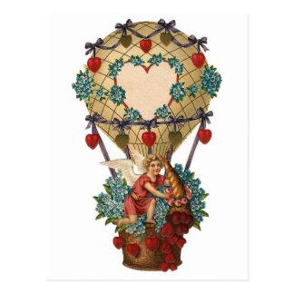 Postal Querube adaptable en globo del aire caliente