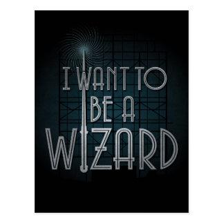 Postal Quiero ser mago