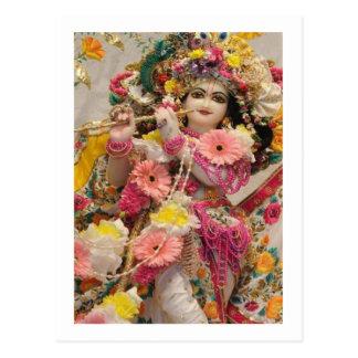 Postal Radha KRISHNA para el amor, prosperidad de la paz
